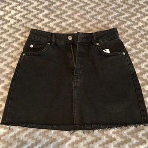 Black Topshop Jean Skirt